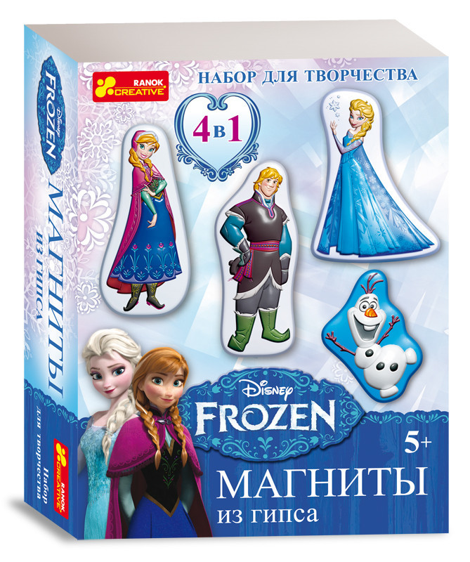 """Набор для творчества """"Магниты из гипса. Frozen"""""""