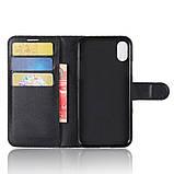 Чехол-книжка Bookmark для iPhone X black, фото 4