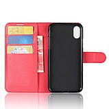 Чехол-книжка Bookmark для iPhone X red, фото 4