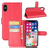 Чехол-книжка Bookmark для iPhone X red, фото 6