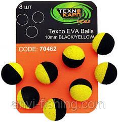 Texno EVA Balls 10mm black/yellow (Черно-желтый) уп/8шт