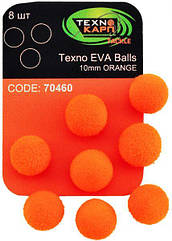 Texno EVA Balls 10mm orange (Оранжевый) уп/8шт
