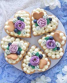 Пирожное Сердечки  на День Валентина