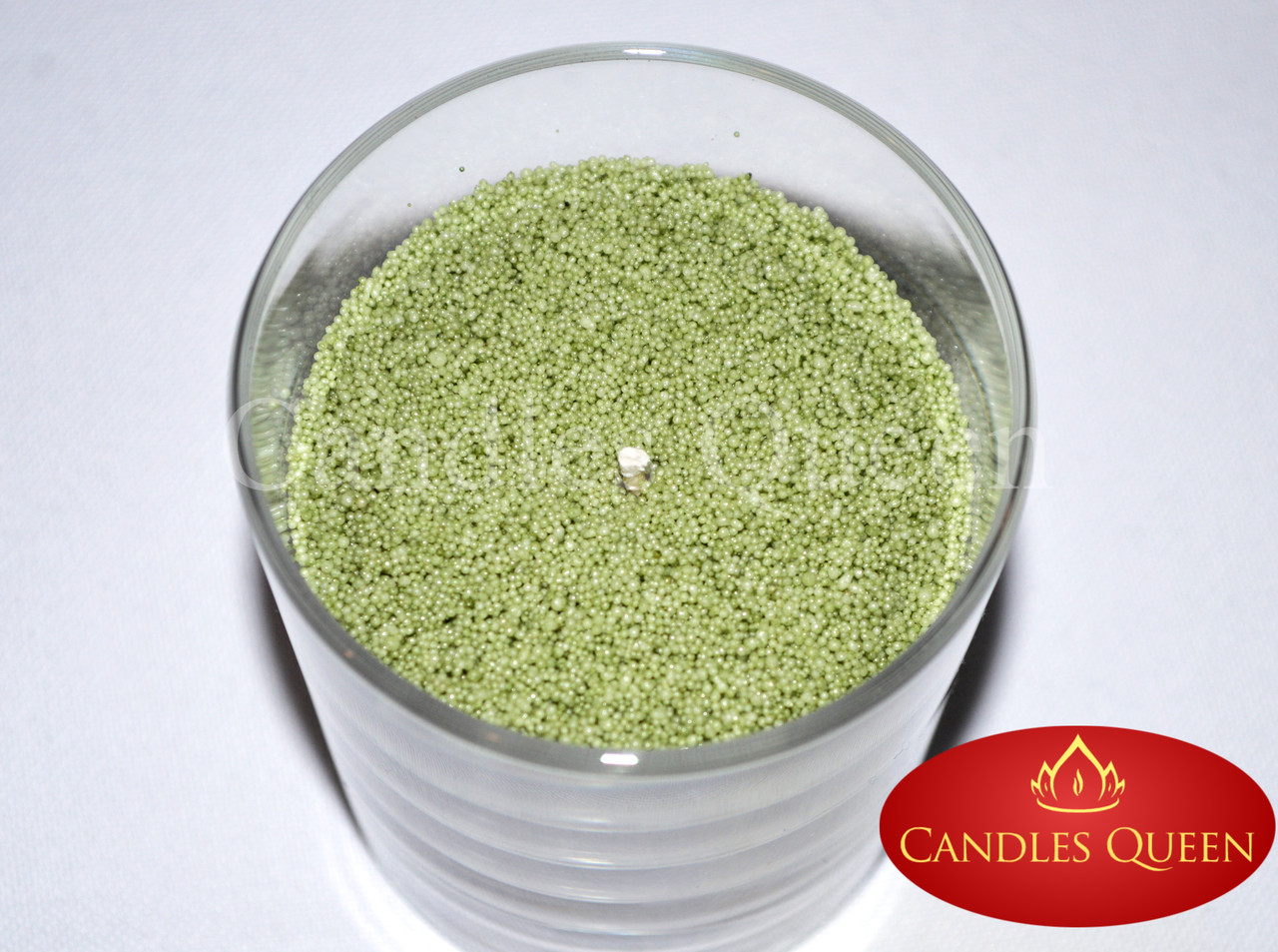 Свеча насыпная оливковый цвет 1 кг +фитиль