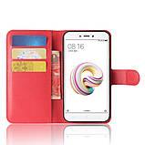 Чехол-книжка Bookmark для Xiaomi Redmi 5A red, фото 4