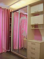 """Набор  мебели для детской комнаты """"Мисси""""(для девочки,шкаф-купе,стол компьютерный,кровать)"""