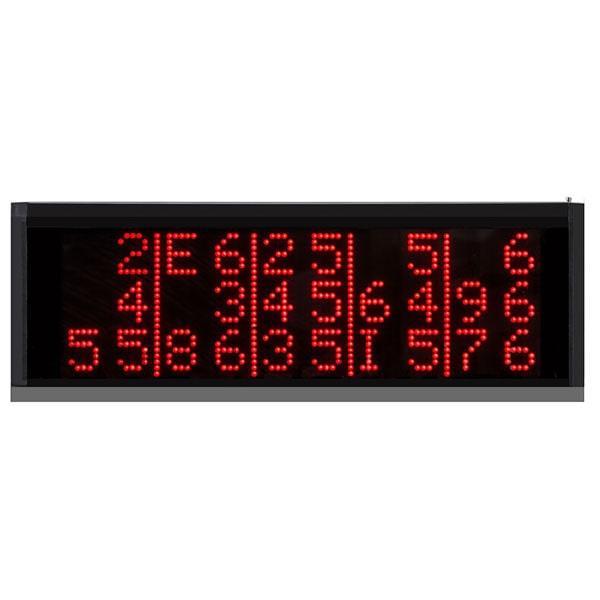 Табло для приема и отображения вызова официантов на 3-15 номеров с пультом ДУ RECS R-1815