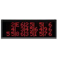 Приемник-табло вызова официантов на 3-15 номеров с пультом ДУ RECS R-1815, фото 1