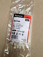 Стяжка кабельная 98х2.5 нейлоновая прозрачная Elematic, 100 шт.