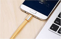 Кабель USB, MicroUSB Remax Metal 1m  Gold