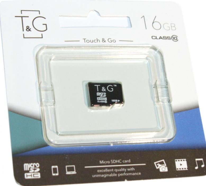Карта пам'яті T&G, MicroSDHC 16 Gb Class 10