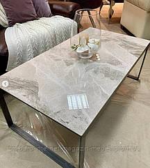 Стол журнальный BRIGHTON R (120*65*45см) керамика светло-серый глянец, Nicolas