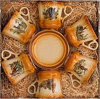Кофейный сервиз Kozap Барок 6 тарелок + 6 чашек (0.15л) 5/457