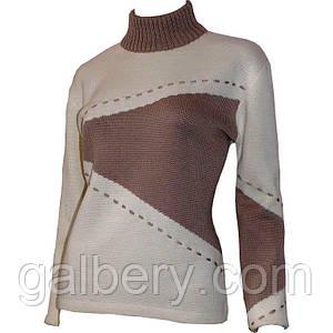 Дизайнерский свитер с асимметричными принтами.