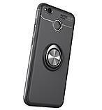 Силиконовый чехол Sirius Metal Ring для Xiaomi Redmi 4X black, фото 2