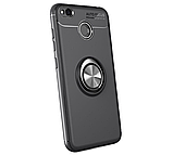Силиконовый чехол Sirius Metal Ring для Xiaomi Redmi 4X black, фото 3