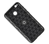Силиконовый чехол Sirius Metal Ring для Xiaomi Redmi 4X black, фото 4