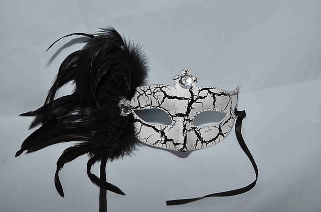 Маска  карнавальная  черно - белая, фото 2