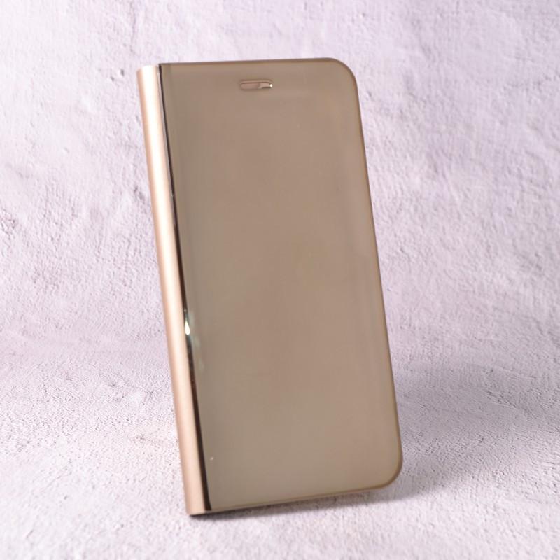 Чехол-книжка Clear Mirror для Samsung Galaxy J7 2016 (J710) gold