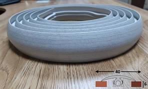 Порог для плитки и ламината шириной 40 мм Ideal, 3,0 м Ясень серый