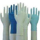 Перчатки смотровые латексные Medicare (нестерильные, без пудры, внутренняя поверхность покрыта полимерами,, фото 3