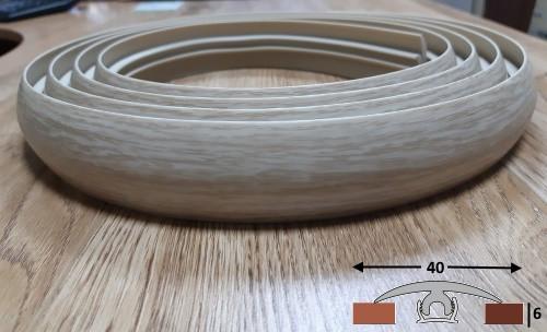 Эластичный порог шириной 40 мм Ideal, 3,0 м Дуб северный