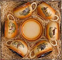 Кофейный сервиз Kozap Мокка 6 тарелок + 6 чашек (0.2л) 3/458