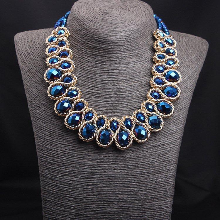 Колье ожерелье женское Kristin blue