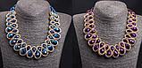 Колье ожерелье женское Kristin blue, фото 2