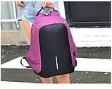 Рюкзак городской против кражи Antithief Lite (Антивор) pink, фото 2
