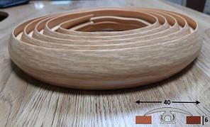 Порог гибкий шириной 40 мм Ideal, 3,0 м Дуб светлый