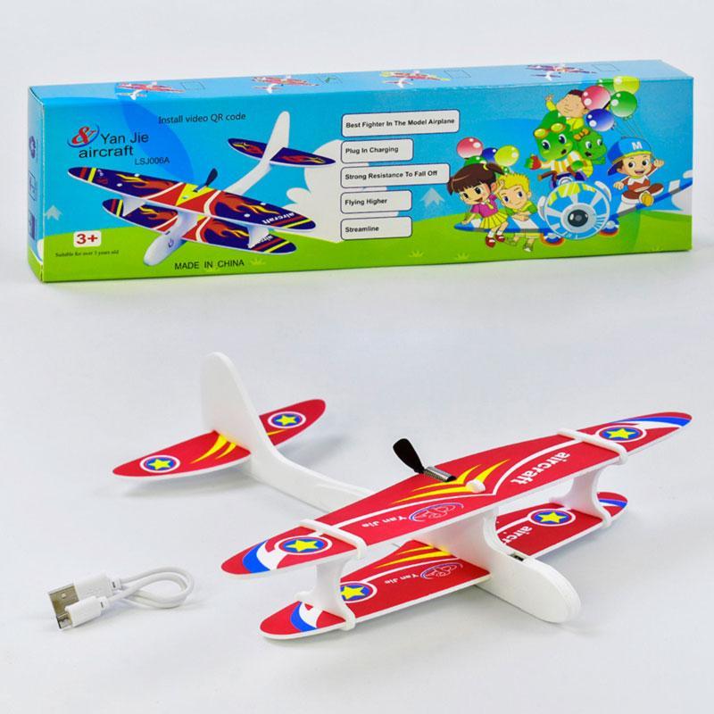 Самолёт с электромотором USB кабель, 4 цвета
