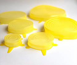 Силиконовые крышки для хранения продуктов (6 штук в наборе)
