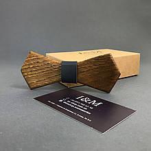 Галстук-бабочка I&M Craft из дерева с острыми углами (011217)