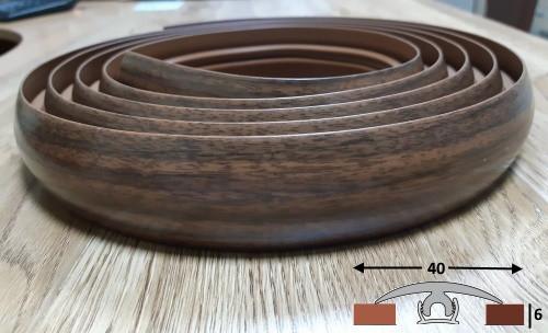 Порог для радиусных стыков шириной 40 мм Ideal, 3,0 м Орех