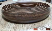 Порог для радиусных стыков шириной 40 мм Ideal, 3,0 м Орех, фото 1