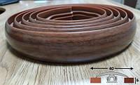 Гибкий порог со скрытым креплением шириной 40 мм Ideal, 3,0 м Орех тёмный, фото 1