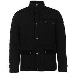 Мужская стеганая куртка Firetrap Kingdom Jacket черная оригинал J0005/05