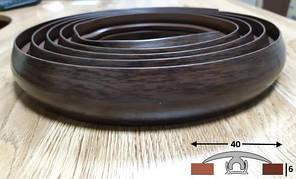 Тёмный гибкий порог шириной 40 мм Ideal, 3,0 м Каштан