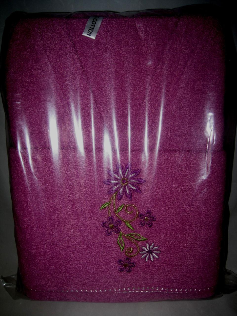 Комплект для бани махровый халат и 2 полотенца