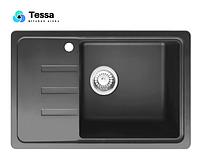 Гранитная мойка Tessa Sabina черная 90003