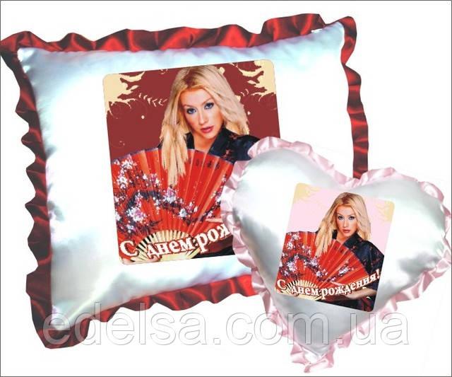 Подушка сувенир с фотопечатью