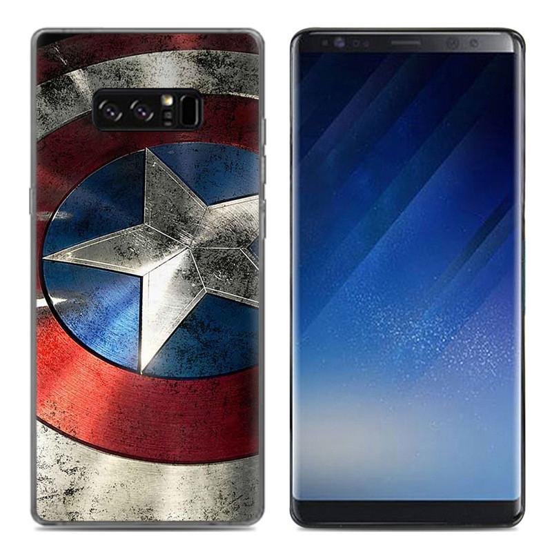 Чехол-накладка TPU Image Captain America для Samsung Galaxy Note 8/N950