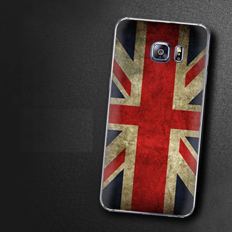 Чехол-накладка TPU Image British Flag для Samsung Galaxy S6 Edge+/G928