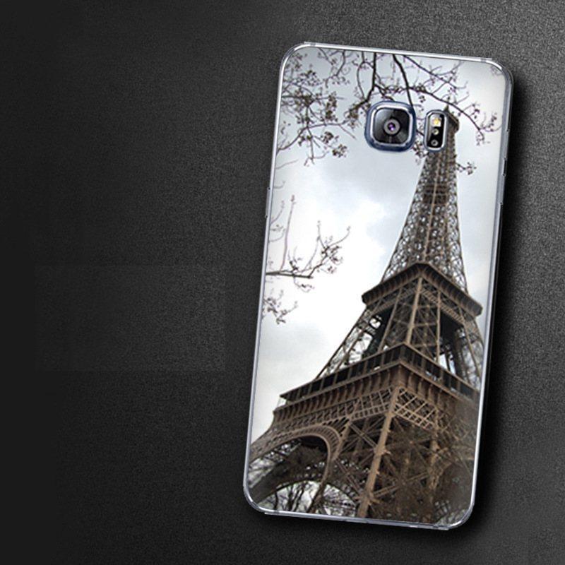 Чехол-накладка TPU Image Paris для Samsung Galaxy S6 Edge+/G928