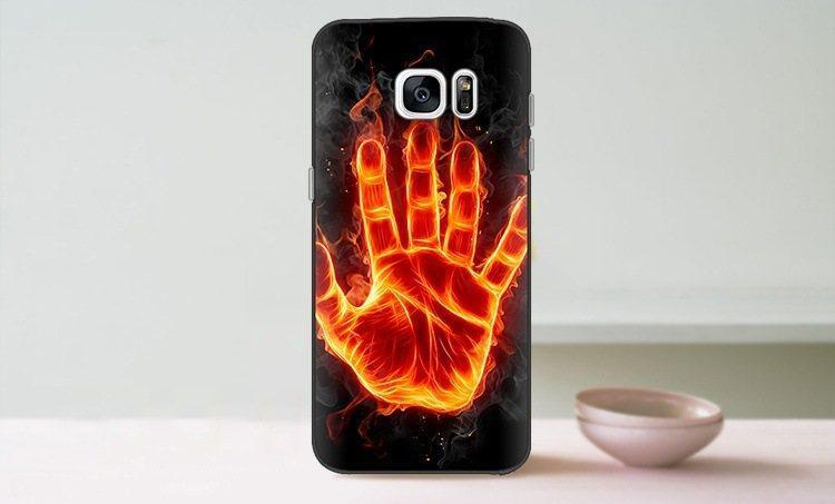 Чехол-накладка TPU Image Fire hand для Samsung Galaxy S7 Edge/G935