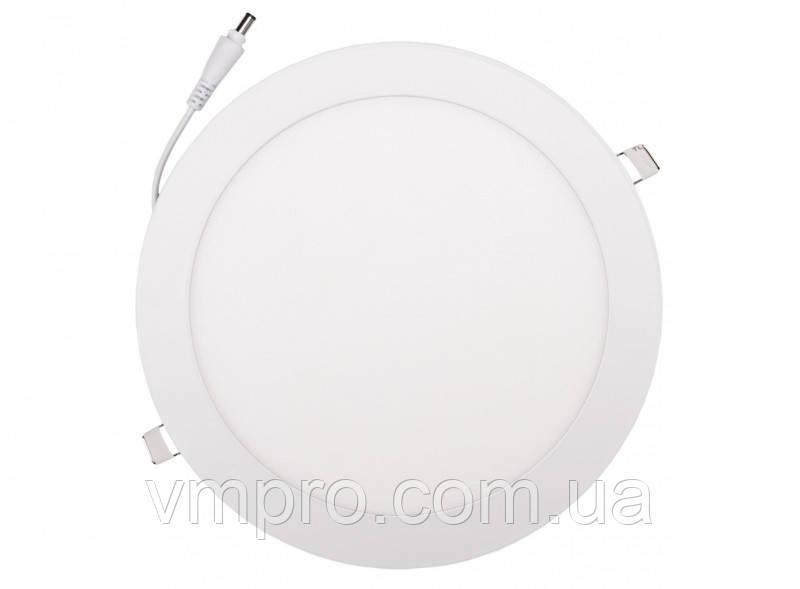 LED панель Luxel круглая, 24W 4000K (DLR-24N)