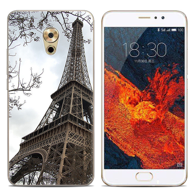 Чехол-накладка TPU Image Paris для Meizu Pro 6 Plus