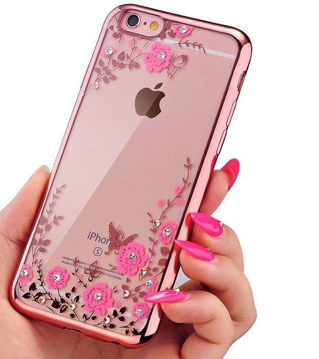 Чехол силиконовый TPU Glaze rose gold для iPhone 6/6S