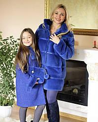 Family look полушубок и пальто из норки